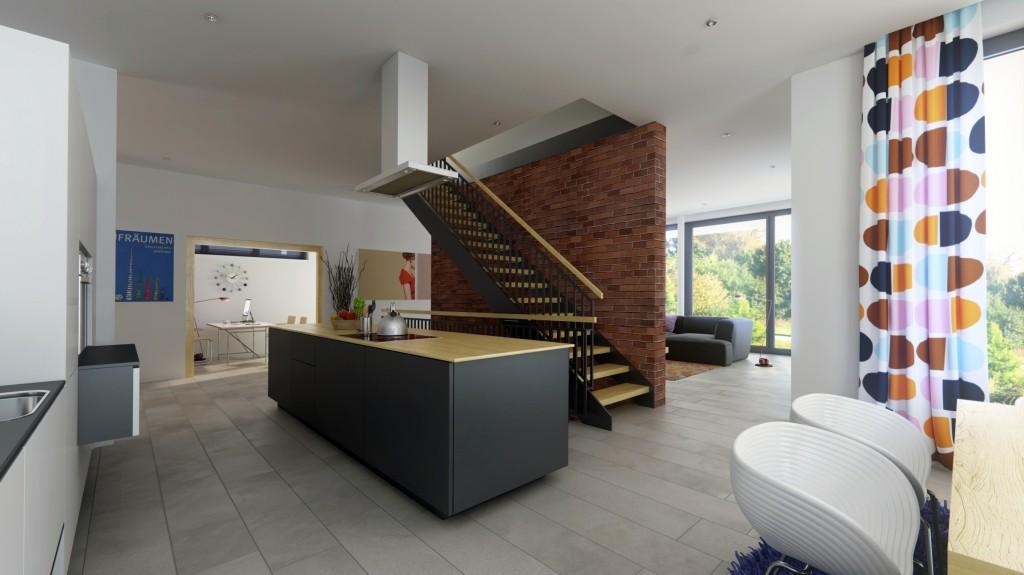 Küche und Zweiholtreppe Musterhaus Eiche von Heinz von Heiden