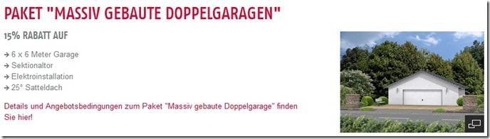 Heinz von Heiden Paket Massiv gebaute Doppelgaragen 15 Prozent Rabatt