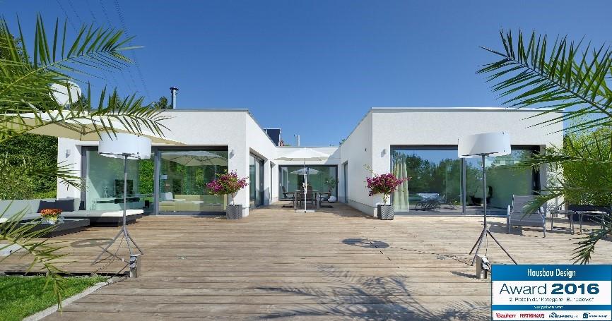Hausbau Design Award 2016 Traumhafter Heinz von Heiden U-Bungalow auf den 2. Platz gewählt